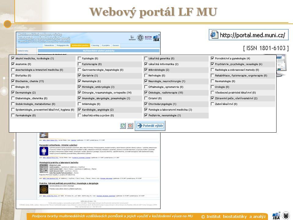 Webový portál LF MU [ ISSN 1801-6103 ]